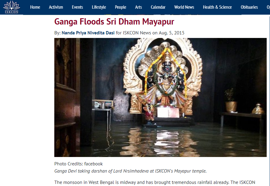Fact Check: Vrindavan ISKCON temple has not flooded