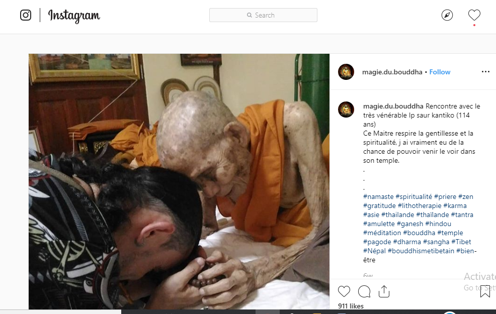 Fact Check: This Buddhist Monk Is 114 Years Old, Not 144 Years Old